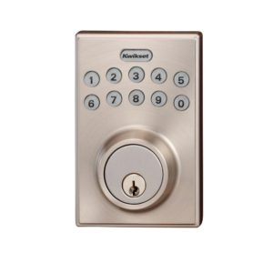 Kwikset 264 Series Contemporary Single Cylinder Satin Nickel Electronic Deadbolt